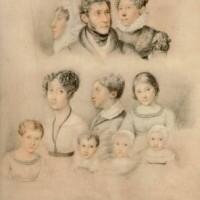 Disegno della Famiglia Manzoni di Ernestina Bisi Legnani. 1823 ca.,Biblioteca Nazionale Braidense