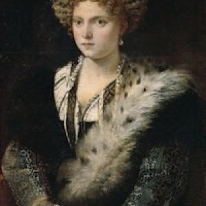 Tiziano, Ritratto di Isabella d'Este (idealizzato), 1530 ca. Vienna, Kunstihistorische Museum
