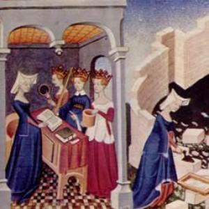 Miniatura  da la Cité des dames,1410 ca. Londra, British Library