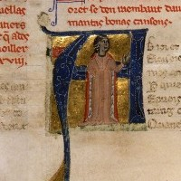 La Contessa di Dia, capolettera del ms Fr.854, Canzoniere provenzale di probabile orgine veneta, XII secolo, Parigi, BNF