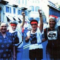 Alcune Mamme Antifasciste. Da sinistra: Luciana, Carmen, Bianca, Adriana.