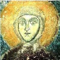 Eufrosinija, dettaglio dell'affresco nella chiesa di S.Salvatore