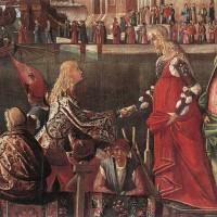 Vittore Carpaccio, L'incontro dei fidanzati, 1490-95 Venezia Accademia