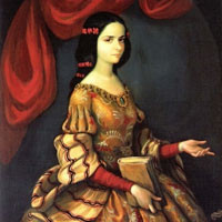 Miguel Cabrera, Sor Juana Inés de la Cruz, c.XVIII secolo, National Museum of History, Chapultepec Castle, Mexico City