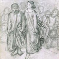 Dante Gabriel Rossetti, Aspasia avvia Socrate alla danza, 1864, Birmingham, Museum of Art