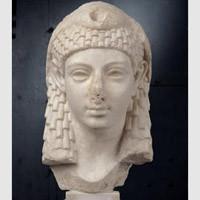 Cleopatra, scultura in marmo,età ellenistica