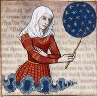 """Miniatura di un manoscritto """"De mulieribus claris"""" di Giovanni Boccaccio, Faltonia Proba, XV secolo"""