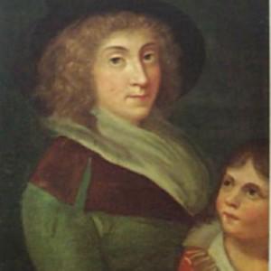 Giulia Beccaria con Alessandro Manzoni