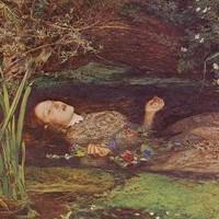 Elizabeth Siddal come Ofelia dipinta da J.E. Millais