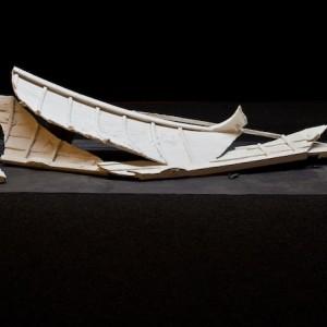 Mare di piombo; installazione ( legno, piombo) cm 340x150x50 circa, 2012