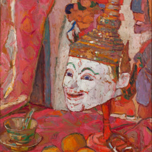 Gabriella Oreffice, Maschera siamese, 1919, tempera su tela