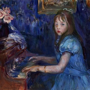 Lucie Leon at the piano, 1892