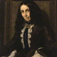 Michele Gordigiani, Ritratto di Elizabeth Barrett Browning, by Michele Gordigiani, 1858, copyright Londra National Portrait Gallery