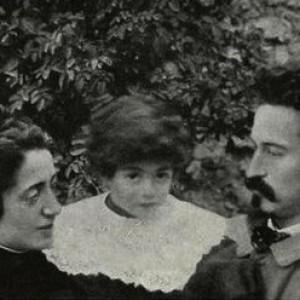 Ernesta Bittanti Battisti con Giggino e Cesare