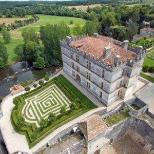 Castello di Bourdeille, veduta dall'alto