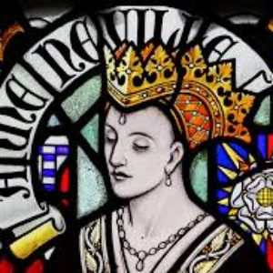 Vetrata con il ritratto di Anne Neville al Castello di Cardiff