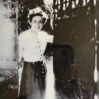 Elma Baccanelli appena arrivata a Roma, dopo la guerra