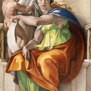 Michelangelo Buonarroti, Sibilla Delfica, volta della Cappella Sistina, 1508-11