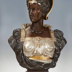 Bianca Capello, 1863 patinated bronze and gilded Museo Vincenzo Vela, Ligornetto, Switzerland