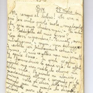 Pagina autografa del Diario