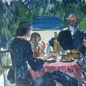 Repas dans le jardin, olio su tela, 1940
