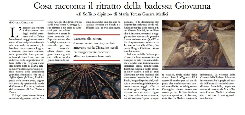 Recensione su L'Osservatore romano, 2 febbraio 2021