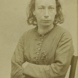 Ritratto di Louise Michel Foto di Charles Ernest Appert (1830-1890). Stampa all'albume. 1871. Paris, musée Carnavalet.