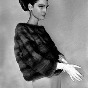 Benedetta Barzini in una foto di Frank Horvat per Vogue France