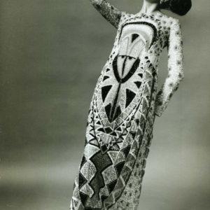 Germana Marucelli, abito da sera linea Totem, autunno/inverno 1967/68. Materiale d'archivio, Archivio Germana Marucelli