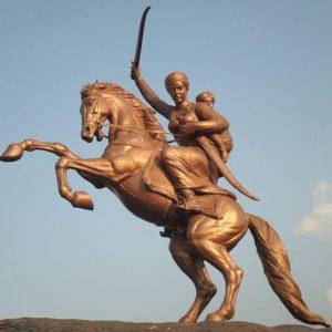 Statua equestre di Lakshmi Bai a Solapur