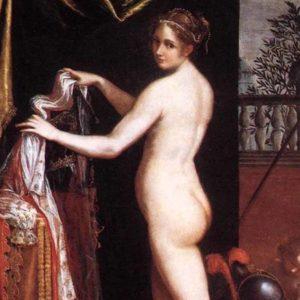 Lavinia Fontana, Minerva in atto di abbigliarsi, 1613, Galleria Borghese, Roma