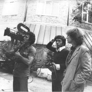 Parigi, Anna Zanoli durante le riprese del film dedicato a Savinio.