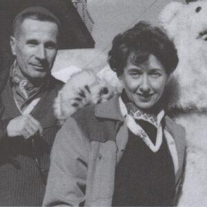 Maria Pezzi e Dino Buzzati a Cortina, Milano, Archivio Maria Pezzi